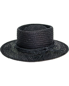 Peter Grimm Women's Borden Straw Hat , Black, hi-res