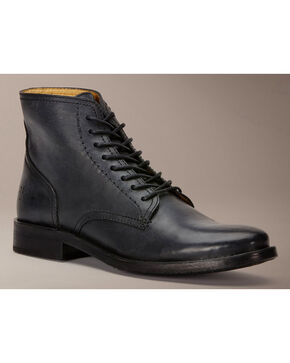 Frye Oliver Lace Up Boots, Black, hi-res