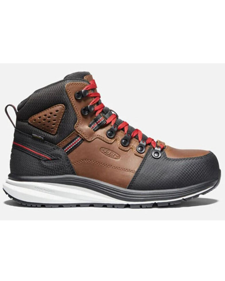 Keen Men's Red Hook Waterproof Work Boots - Carbon Toe, Brown, hi-res