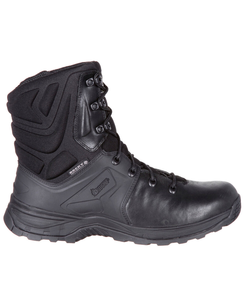 Rocky Men's Alpha Tac Waterproof Hiker Boots - Round Toe, Black, hi-res