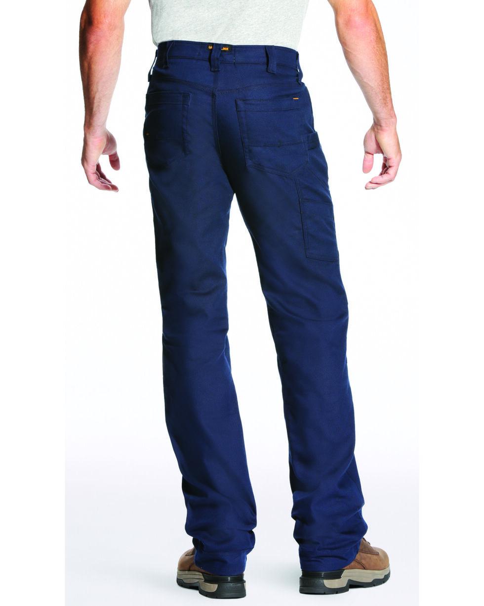 Ariat Men's Rebar M4 Stretch Canvas Utility Pants - Straight Leg , Navy, hi-res
