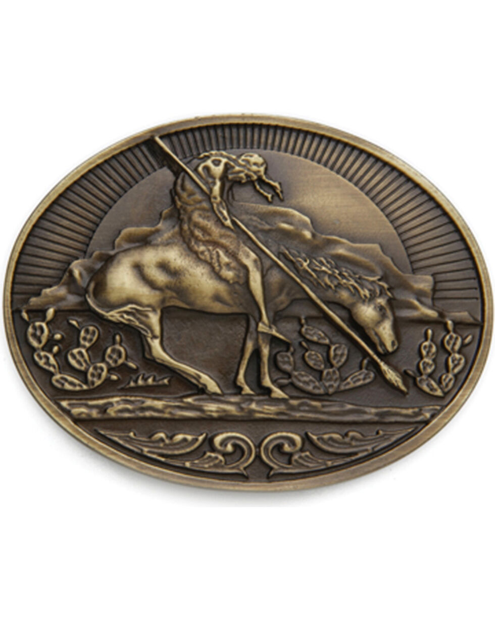 Cody James® Men's End of the Trail Belt Buckle, Brass, hi-res