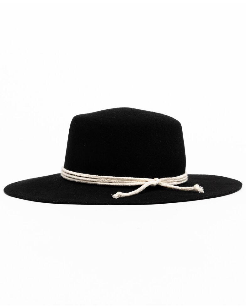 Shyanne Women's Black Flat Top Felt Western Hat , Black, hi-res