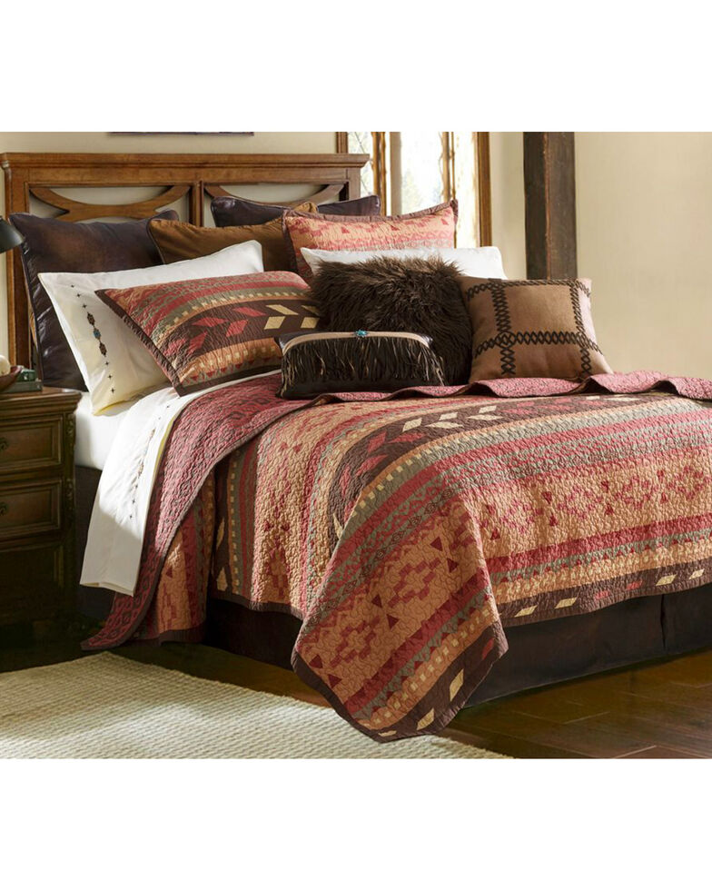 HiEnd Accents 3-Piece Broken Arrow King Quilt Set, Multi, hi-res