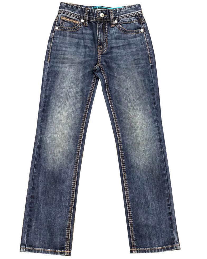 Rock & Roll Denim Boys' Revolver Reflex Stretch Regular Straight Jeans , Blue, hi-res