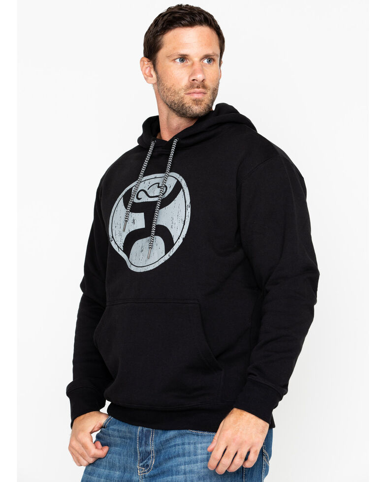Hooey Men's 2.0 Black Logo Hooded Sweatshirt , Black, hi-res
