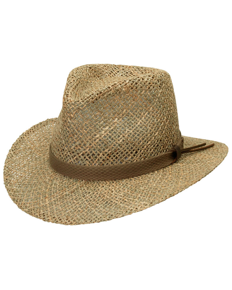 Black Creek Men's Seagrass Straw Hat, Natural, hi-res