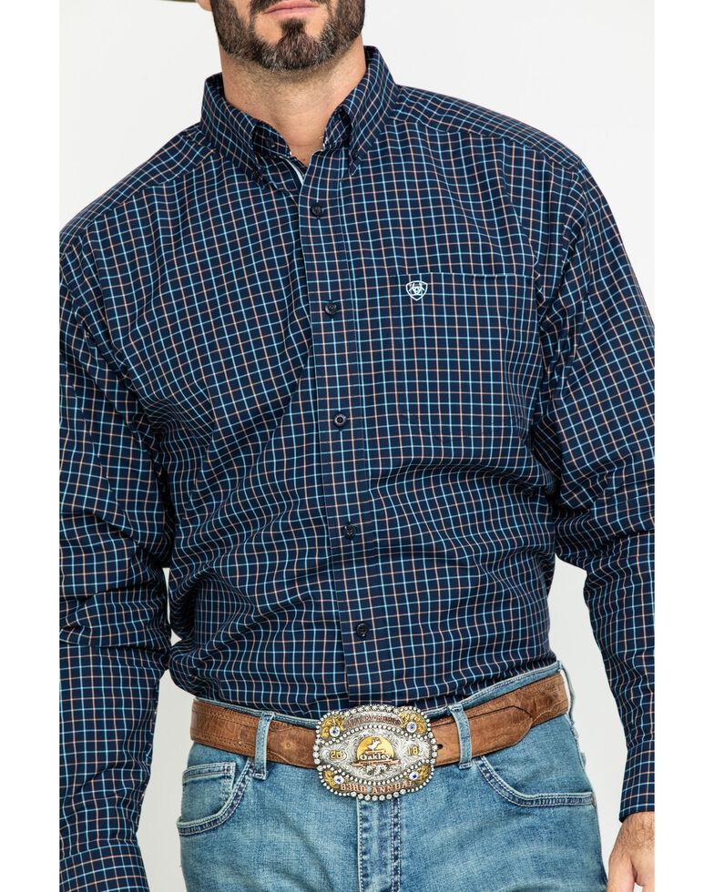 Ariat Men's Lemore Small Plaid Long Sleeve Western Shirt , Black, hi-res