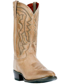 Dan Post Men's Noah Burnished Sand Western Boots - Round Toe, Sand, hi-res
