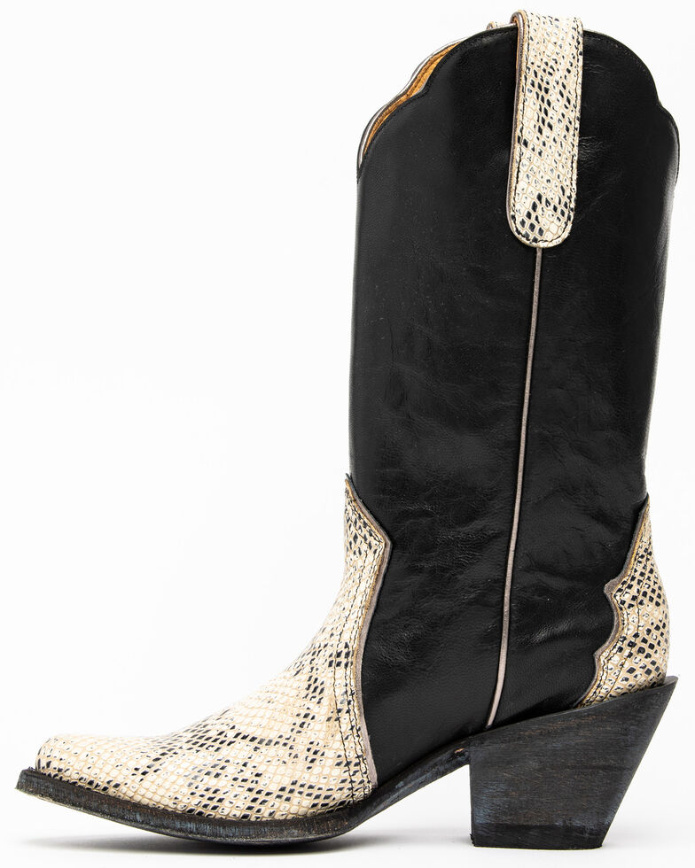 Idyllwind Women's Lonestar Western Boots - Round Toe, Black/white, hi-res