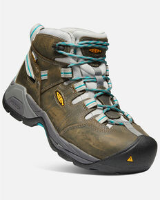 Keen Women's Detroit XT Waterproof Work Boots - Steel Toe, Black, hi-res