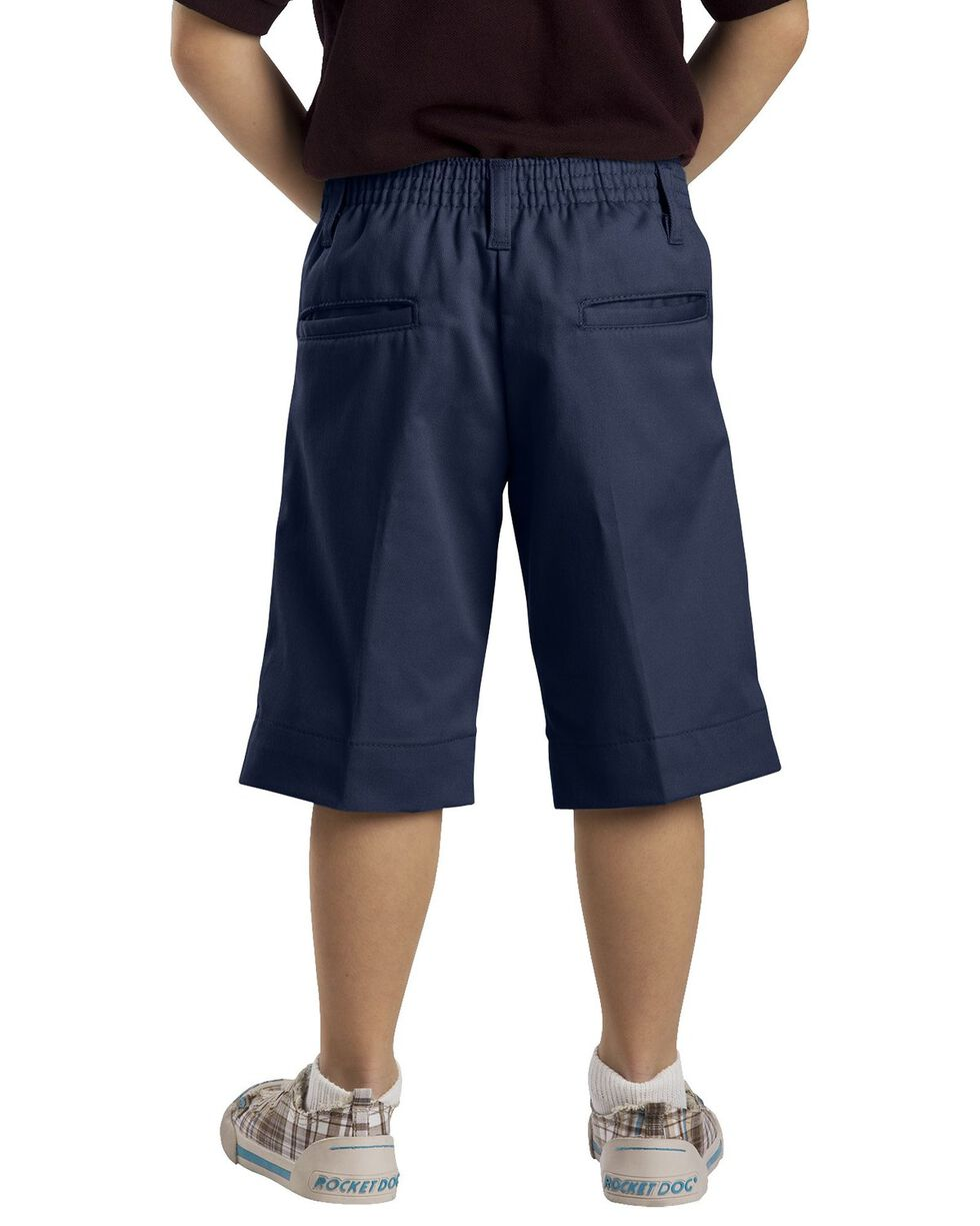 Dickies Girls' Stretch Bermuda Shorts - 16-20, Navy, hi-res