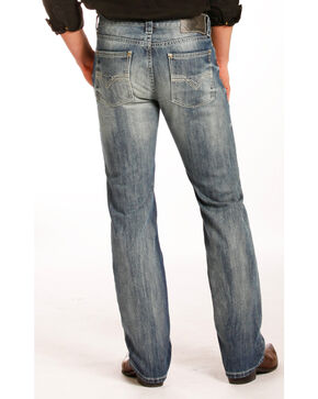 Rock & Roll Cowboy Men's Revolver Slim Jeans - Straight Leg , Blue, hi-res