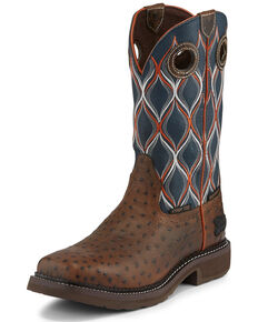 Justin Women's Tarana Chocolate Western Work Boots - Composite Toe, Brown, hi-res