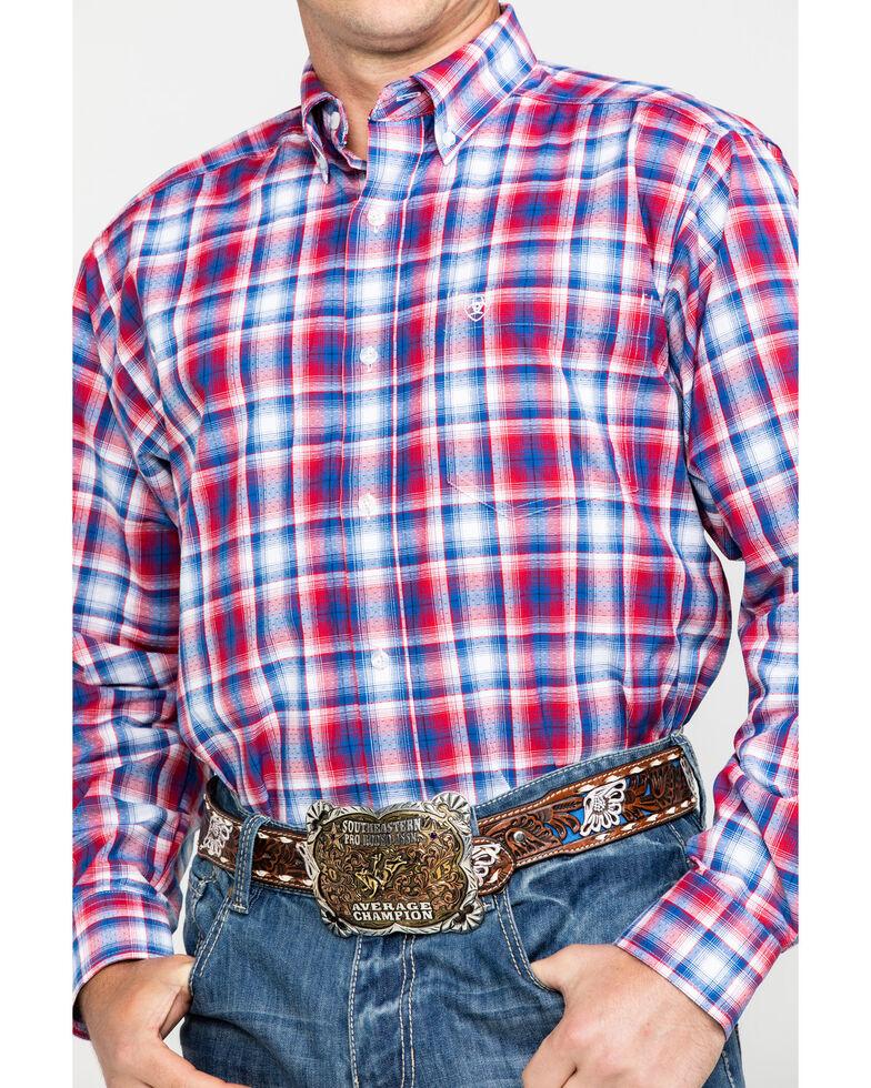 Ariat Men's Oakden Large Plaid Long Sleeve Western Shirt - Big & Tall , Multi, hi-res