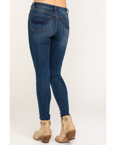 Idyllwind Women's Straight Ended Arrow Skinny Jeans, Blue, hi-res