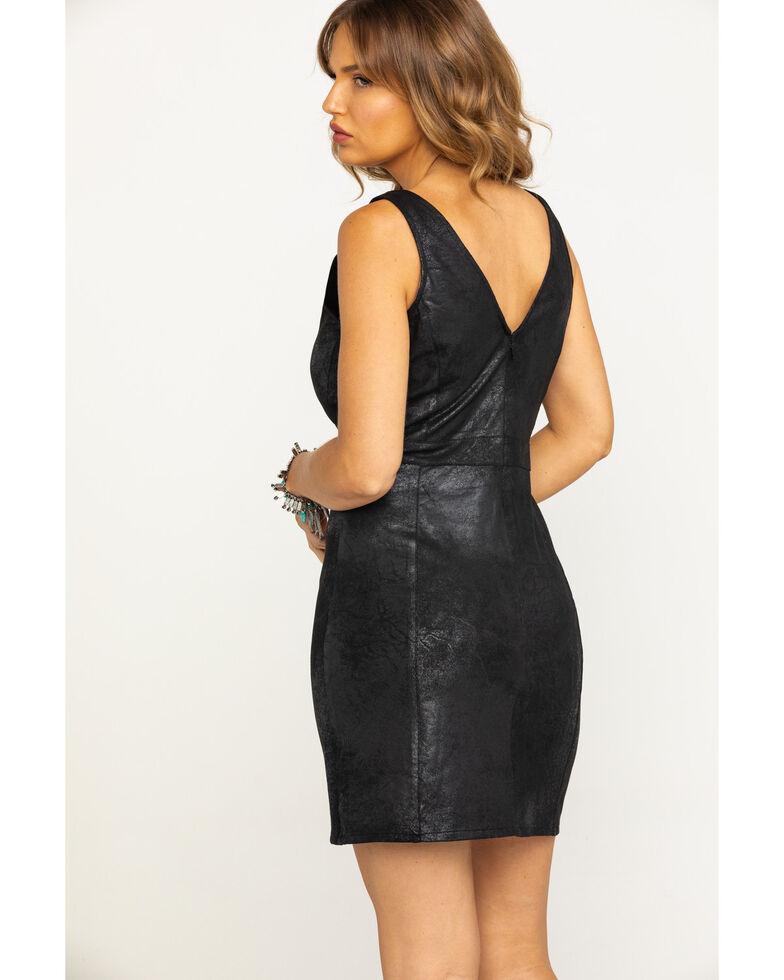Idyllwind Women's Rock N Roll Faux Leather Dress, Black, hi-res