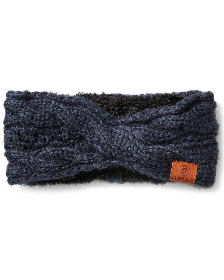 Ariat Women's Cozy Cable Headband, Navy, hi-res