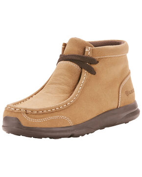 Ariat Youth Boys' Spitfire Coyote Shoes - Moc Toe, Tan, hi-res