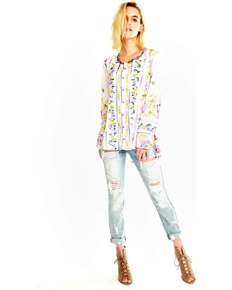 Aratta Women's Dreamland Beach Shirt , White, hi-res