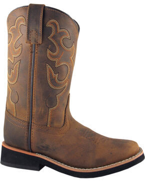 Smoky Mountain Toddler Boys' Pueblo Western Boots - Square Toe, Crazyhorse, hi-res