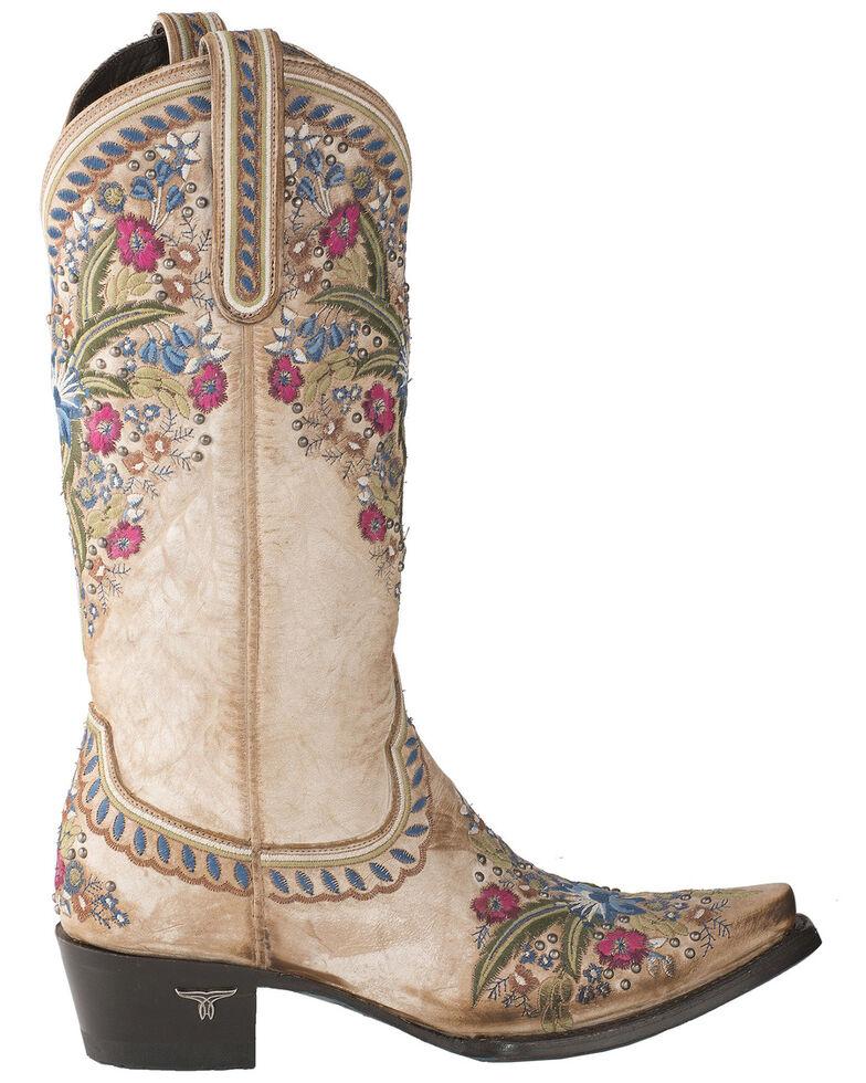 Lane Women's Chloe Western Boots - Snip Toe, Off White, hi-res