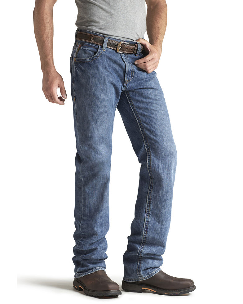 Ariat Men's Flame Resistant Flint M3 Loose Fit Jeans, Denim, hi-res