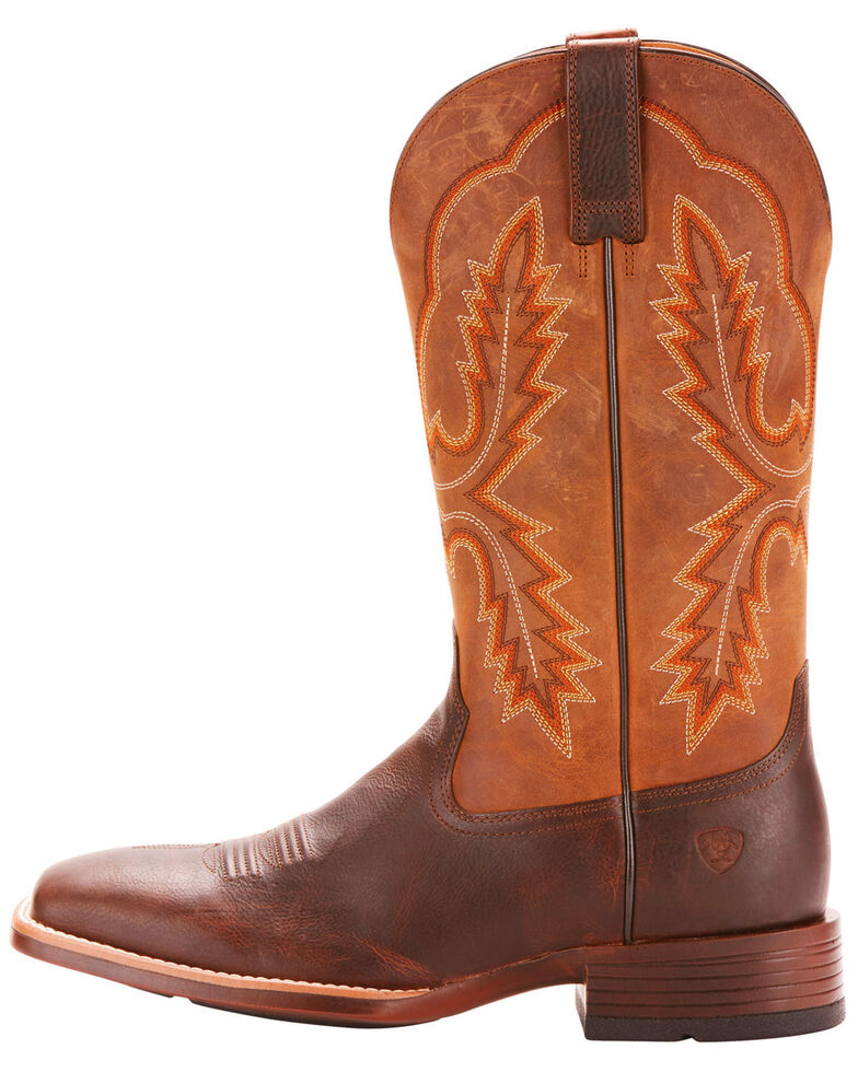 Ariat Men's Brown Pecos Leather Western Boots - Broad Square Toe , , hi-res