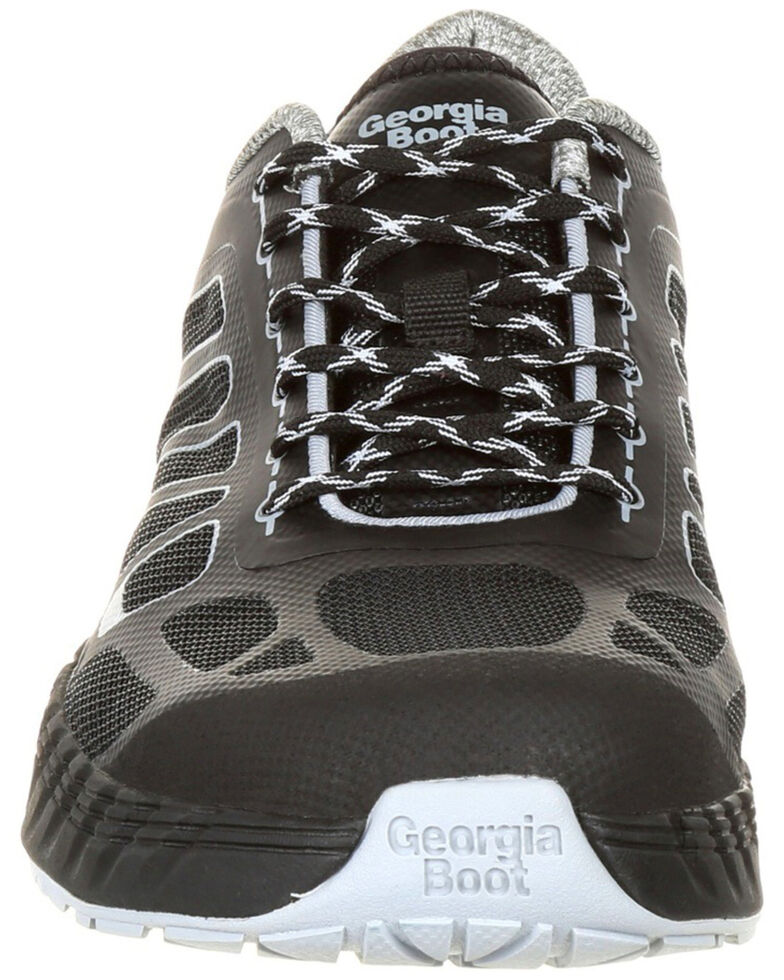 Georgia Boot Men's Reflex Athletic Work Shoes - Alloy Toe, Black, hi-res