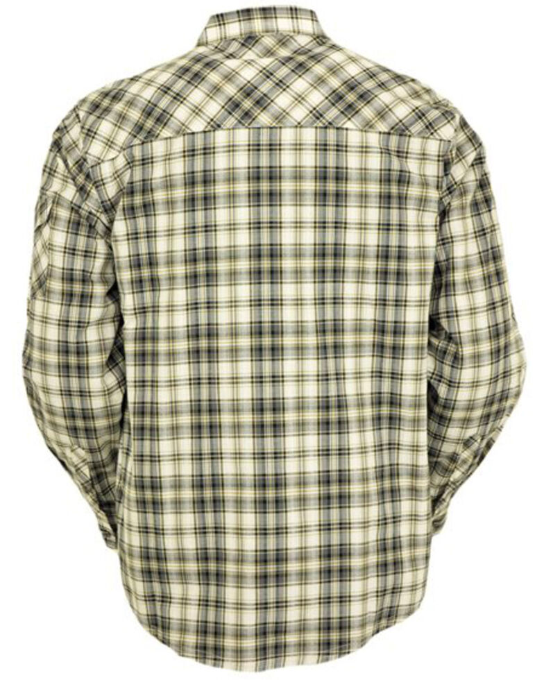 Outback Trading Co. Men's Beau Plaid Long Sleeve Thermal Lined Western Shirt , Grey, hi-res