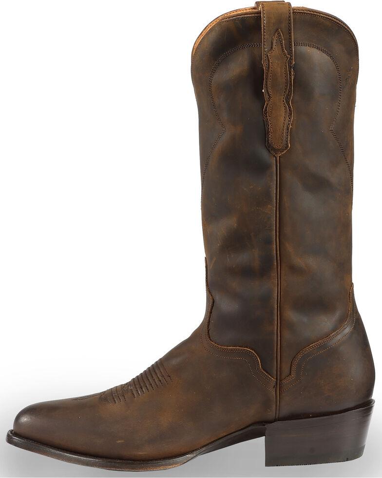 El Dorado Handmade Men's Tan Oiled Roper Boots - Medium Toe, Brown, hi-res
