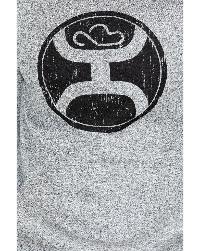 Hooey Men's 2.0 Pullover Logo Hoodie , Heather Grey, hi-res