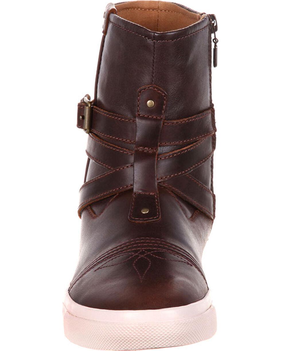 Durango Women's Music City Belted Sneaker Booties, Brown, hi-res