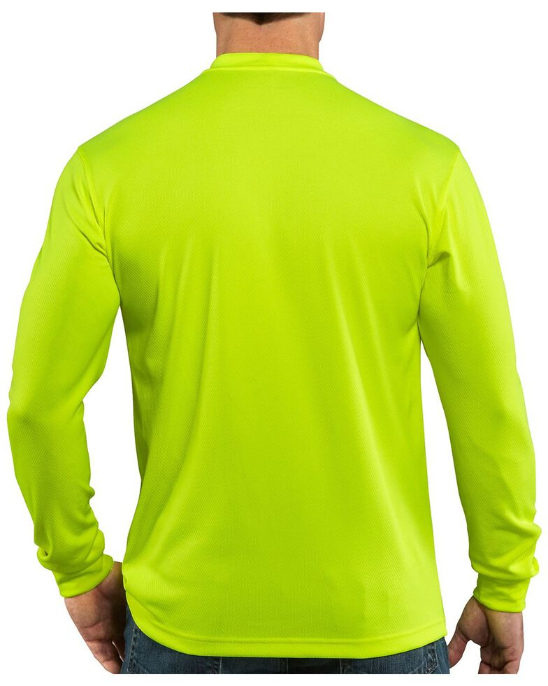 Carhartt Force Color-Enhanced Long Sleeve T-Shirt, Lime, hi-res