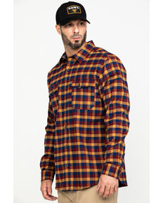 Hawx® Men's Multi Fashion Stretch Plaid Flannel Long Sleeve Work Shirt , Multi, hi-res
