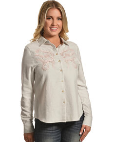 a9667a4962cf0b Shyanne Women s Embroidered Long Sleeve Flannel Shirt