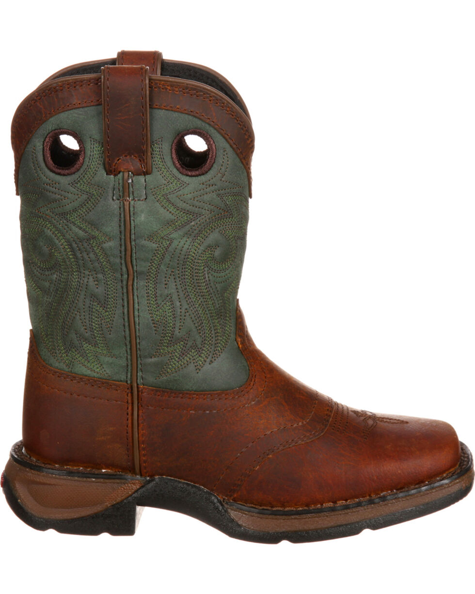 Durango Youth Saddle Western Boot, Dark Brown, hi-res