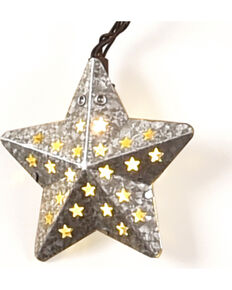 Boot Barn Ranch Galvanized Star Lights, No Color, hi-res