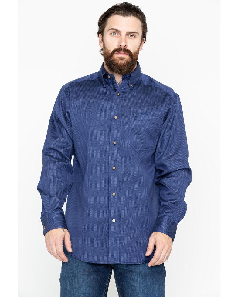 Ariat Men's Bansky Geo Print Long Sleeve Western Shirt - Big & Tall , Navy, hi-res