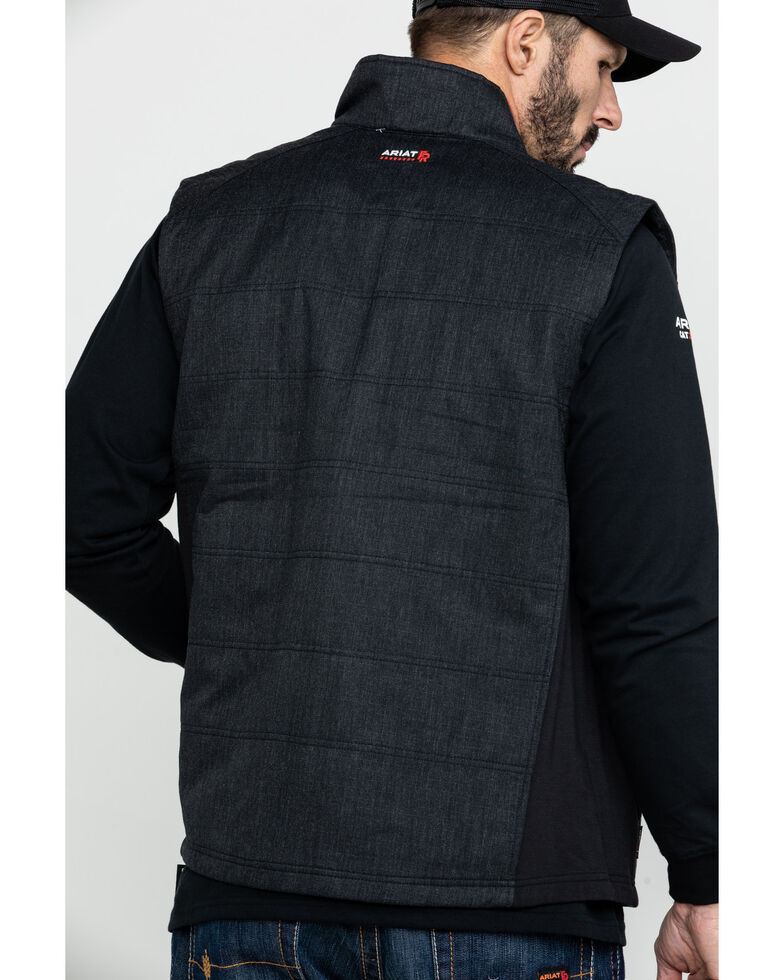 Ariat Men's FR Cloud 9 Insulated Work Vest - Big, Black, hi-res