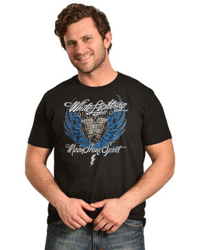 Moonshine Spirit Men's Winged Barrels Tee, Black, hi-res
