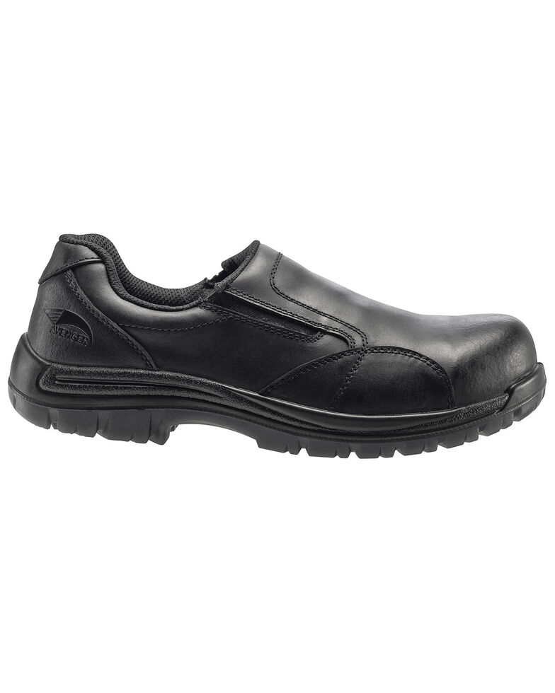 Avenger Men's Slip Resistant Work Shoes - Composite Toe, Black, hi-res