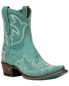 Lane Women's Saratoga Fashion Booties - Snip Toe, Turquoise, hi-res