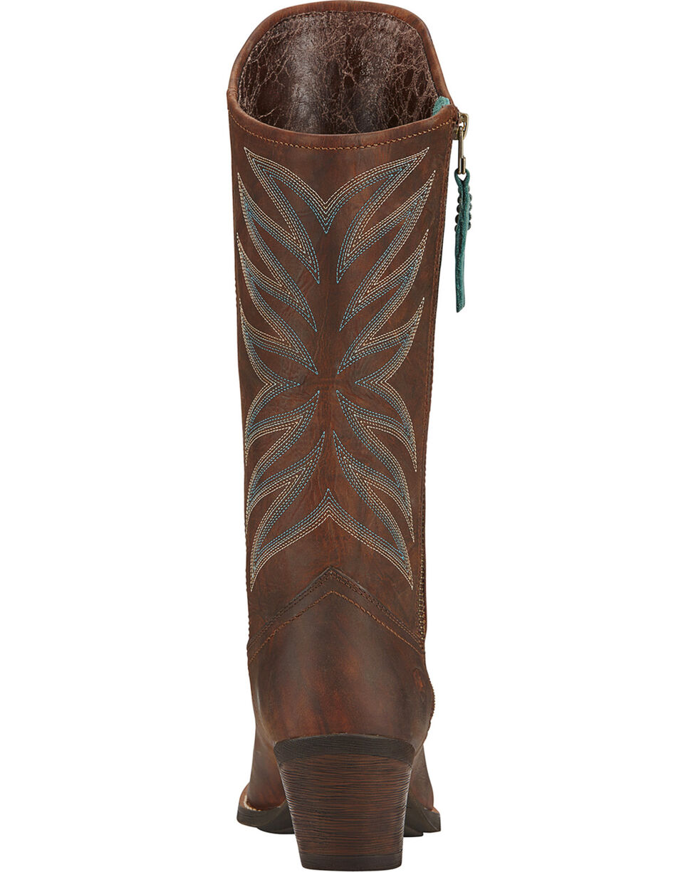 Ariat Women's Fanfare Western Fashion Boots, Mahogany, hi-res
