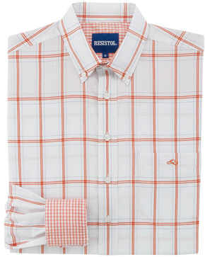 Resistol Men's Plaid Willcox Button Down Shirt , Light Blue, hi-res