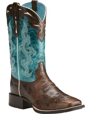 Ariat Women's Sidekick Western Boots, Chocolate, hi-res