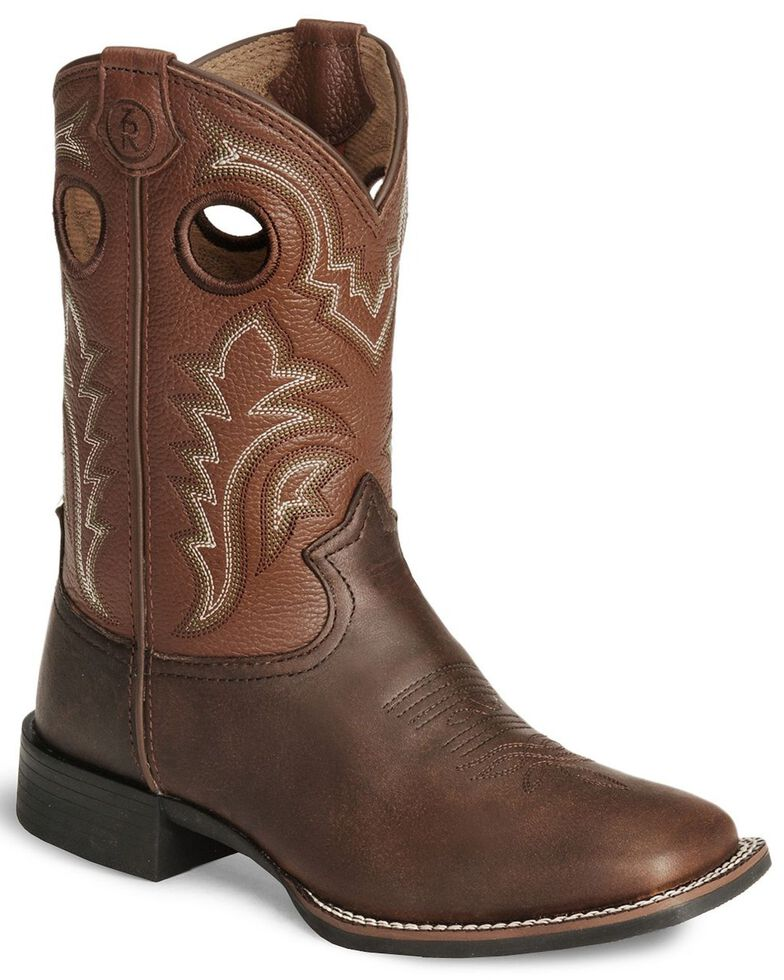 Tony Lama Boys' Tiny Lama 3R Tan Cowboy Boots - Square Toe, Tan, hi-res
