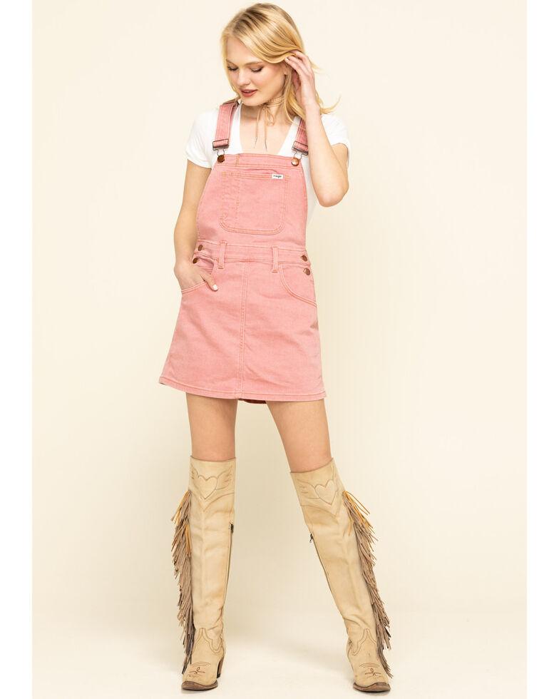 Wrangler Modern Women's Pink Denim Overall Dress, Pink, hi-res