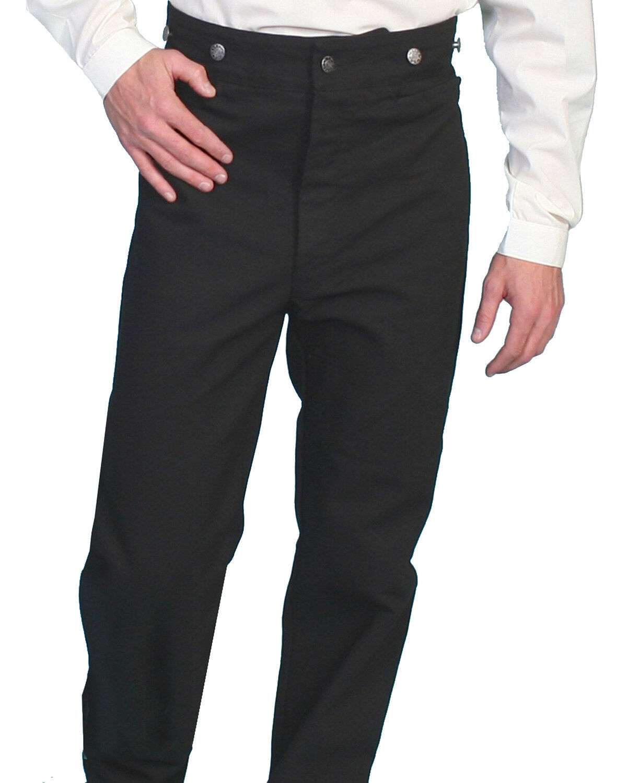 Scully Wahmaker Mens Wahmaker Canvas Saddle Seat Pants Black 38