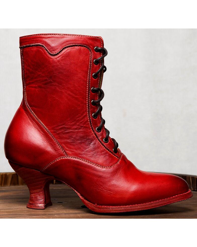 Oak Tree Farms Eleanor Red Boots - Medium Toe, Red, hi-res